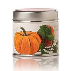 Rosy Rings Pumpkin Farmhouse Tin Candle