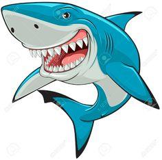 Illustration about Vector illustration: toothy white shark. Illustration of aquatic, danger, icon - 39603472 Big Shark, Shark Art, Shark Swimming, Shark Images, Shark Drawing, Shark Logo, Shark Tattoos, Desenho Tattoo, Stencil
