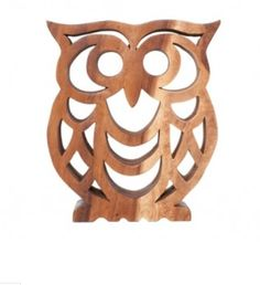 wooden Owl at Amart. Wooden Owl, Wooden Decor, Cool Woodworking Projects, Wood Projects, Owl Sketch, Scroll Saw Patterns Free, Bois Diy, Wood Animal, Owl Patterns