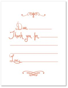 Teach your little ones to write thank you's.
