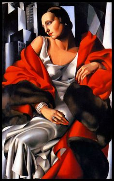 'Portrait of Madame Boucard' - 1931 - by Tamara de Lempicka (Polish Art Deco painter, 1898-1980) - Style: Art Deco