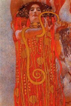 """Hygieia,Detail from """"Medicine"""" by Gustav Klimt"""