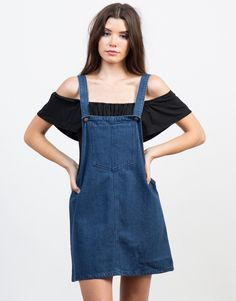 This season is all about the lightweight denim trend. This Denim Overall Dress comes in a variety denim color of your choice. Made from a light denim fabric giving you a comfy and breathable wear during warm weather. Pair this dress with some lace-up sneakers or sandals for a casual day out.