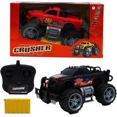 "10"" R/C 4x4 CRUSHER TRUCK W/BAT. CHARGER IN WINDOW BOX ASSRT"
