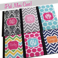 Personalized Monogrammed iPad Mini Case Gifts by MADFORMONOGRAMS
