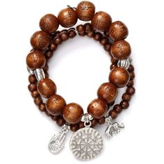 Good Charma Set of Three Wooden Bracelets ($180) ❤ liked on Polyvore