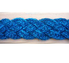 Braided Scarf - Chainless foundation double crochet strips braided together.