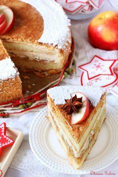 Яблочный торт с карамельным баварским муссом с корицей - Совёнкин журнал