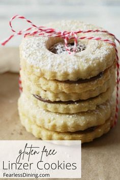 These delicious gluten free linzer cookies are filled with Nutella and make the best sandwich cookies. Easy directions, everyone will love making these. Grab your favorite cookie cutters and gluten free flour! www.fearlessdining.com Linzer Tart, Linzer Cookies, Best Gluten Free Cookie Recipe, Kinds Of Cookies, Best Sandwich, Sandwich Cookies, Dessert Recipes, Desserts, Holiday Cookies