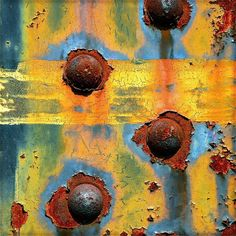rust by StephenReed Art Texture, Rust Paint, Weathered Paint, Peeling Paint, Rusty Metal, Rust Color, Abstract Photography, Textures Patterns, Color Inspiration