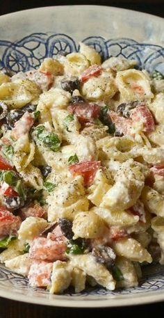 Roasted Garlic, Olive and Tomato Pasta Salad Recipe