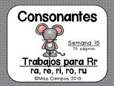 LETRA R - DOBLE RR - 74 paginas de recursos para la letra Rr y las sílabas RA, RE, RI, RO, RU. PHONICS FOR SPANISH.