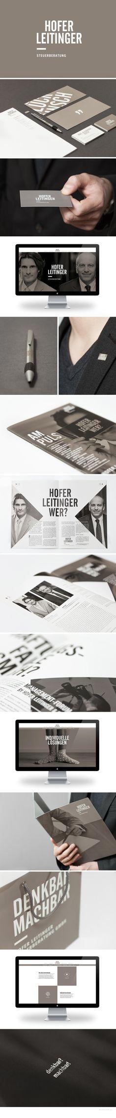 Corporate Design for Hofer Leitinger Steuerberatung by Nicouleur #branding #graz #design #austria #nicouleur #corporatedesign #taupe Corporate Design, Graphic Design Typography, Web Design, Logos, Accessories, Graz, Design Web, Logo, A Logo