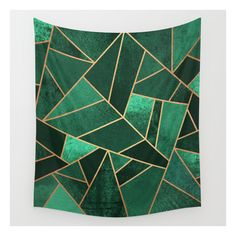 Emerald And Copper Wall Tapestry ($39) ❤ liked on Polyvore featuring home, home decor, wall art, wall tapestries, tapestry wall art, copper wall art, copper home accessories, outside home decor and interior wall decor
