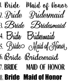 Bridesmaid Shirt Bundle! Set of 5 Iron-On Bridesmaid Shirt Decals! Make Your Own Bridal Party/Squad Shirts/Bags! Bachelorette Party Shirts! by ShimmerAndSwirls on Etsy https://www.etsy.com/listing/267358277/bridesmaid-shirt-bundle-set-of-5-iron-on