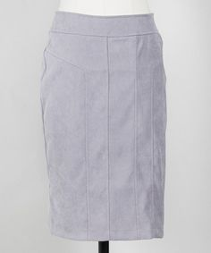 Love this Gray Perfect Pencil Skirt by Down East Basics on #zulily! #zulilyfinds