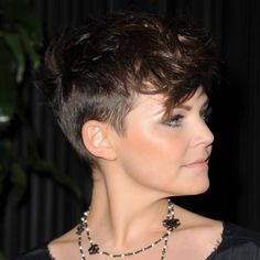 Gennifer Goodwin. I love this hair cut so much but it'd look awful on me