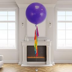 Helium filled handmade tassel tail balloon delivered to your door