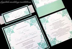 The Detoto Suite - Vintage Floral Layered Wedding Invitations - Krystals Wedding Invitations #weddings #weddinginvitations