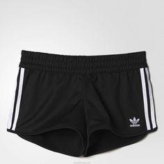 Black Adidas 3-Stripes Shorts Women Clothing Online Shop UK ❤ liked on Polyvore featuring shorts, stripe shorts, adidas, adidas shorts and striped shorts