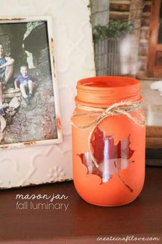 DIY mason jars for fall