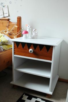 Bedside table with a twist