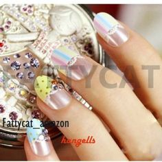SPRING FLOWER FASHION JAPANESE 3D NAIL ART 24 nails Sold By FATTYCAT