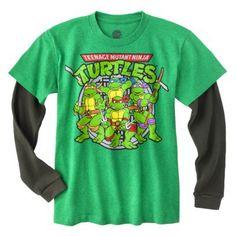 Teenage Mutant Ninja Turtles Boys' License 2-Fer - Green