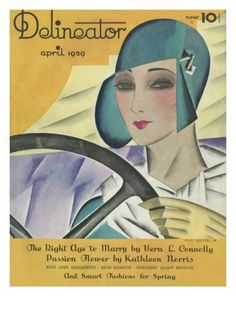 Delineator Magazine Front Cover April 1929 Giclee Print at AllPosters.com