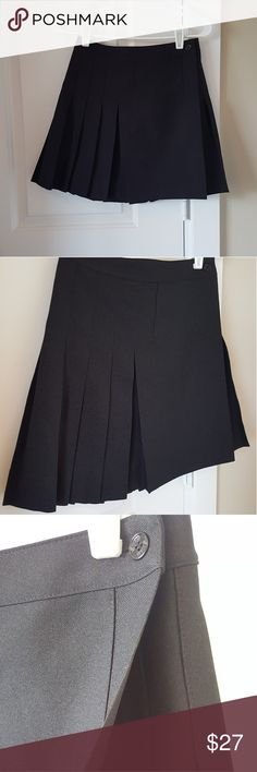 *SALE* NWOT Adorable Pleated Wrap Skirt NWOT! Only worn to try on. This skirt is so cute and fun. It's a wrap style with two sets of buttons on the front--each side has 3 buttons so you can adjust the sizing/fit! It's a nice thick and comfy fabric. Size is XS but I'm usually a small and it fits me as high waisted on the tightest buttons!   Purchased from Macy's; tagged ASOS, Nasty Gal, Urban Outfitters, American Apparel, Nordstrom, Zara, H&M, Topshop Urban Outfitters Skirts Mini