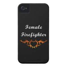 Female Firefighter Tattoo Phone Cases