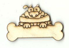 Bulldog with a Bone - Laser Cut Wood Shape DOG74