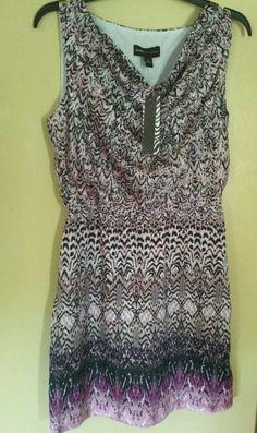 NWT Women's summer Dress DANA BUCHMAN Size S pink & black MSRP $66 free ship! #DANABUCHMAN #Sleeveless