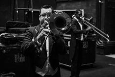Trombonista Ricardo Santos nos bastidores da Cidade das Artes. Foto: Cicero Rodrigues  OSB - Orquestra Sinfônica Brasileira