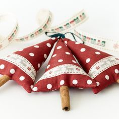 Christmas Tree Ornaments with cinnamaoon stick trunk