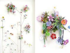 Image result for 3d papercut collage flowers