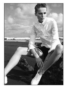Schön! Magazine Shirt / Carven Shorts / Gucci Shoes / Barbara Bui