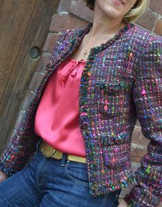 Sew Tessuti Blog - Sewing Tips & Tutorials - New Fabrics, Pattern Reviews: Chanelling Chanel Georgia's jacket
