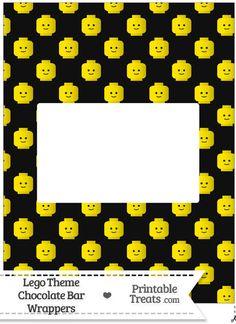 Black Lego Theme Chocolate Bar Wrappers -- https://www.pinterest.com/printabletreats/lego-theme-printables/