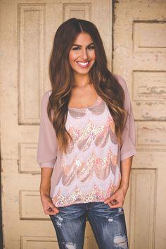 Dottie Couture Boutique - Sequin Blouse, $42.00 (http://www.dottiecouture.com/sequin-blouse/)