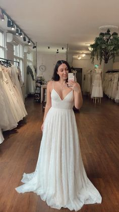 French Collection, Lace Bride, V Neck Wedding Dress, Bohemian Bride, Bridal Style, Weddings, Boutique, Formal Dresses, Store