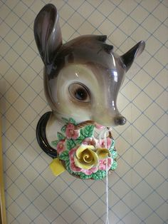 Vintage deer wall pocket, c. 1950s