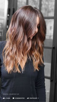 """Choi calls this one """"light, golden-toffee blond ends over natural auburn hair"""" — the perfect example of an on-trend take on bronde New Hair Color Trends, New Hair Colors, Hair Trends, Colour Trends, Spring Hairstyles, Cool Hairstyles, Wedding Hairstyles, Natural Auburn Hair, Hair Color And Cut"""