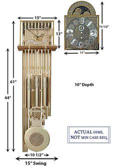 Mechanical Clock Kits - Build a Grandfather Clock with Ease : Clockworks Grandfather Clock Kits, Grandmother Clock, Tubular Bells, Cable Drum, Mechanical Clock, Mount System, Clock Movements, Mantle Clock, Polished Brass