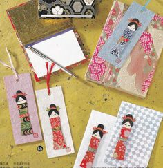 Washi Origami Paper Doll and Bookmark Japanese Craft .