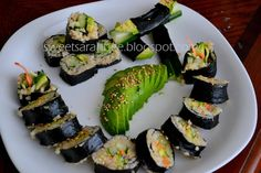 Homemade Sushi Vegetarian, Vegan & Clean Eating!