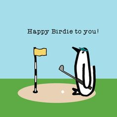 Your place to buy and sell all things handmade Happy Birthday Golf, Happy Birthday Wishes For Him, Facebook Birthday, Birthday Wishes Greetings, Penguin Birthday, Birthday Pins, Birthday Wishes Funny, Happy Birthday Quotes, Birthday Images