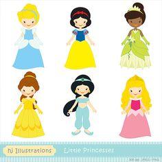 Little Princess digital clipart, Princess clipart - HGClpR013 on Etsy, $5.00