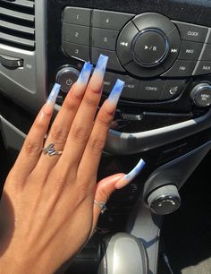 badgyalmel: my nail tech…. Classy Acrylic Nails, Bling Acrylic Nails, Drip Nails, Cute Acrylic Nail Designs, Classy Nail Designs, Aycrlic Nails, Best Acrylic Nails, Summer Acrylic Nails, Colored Acrylic Nails