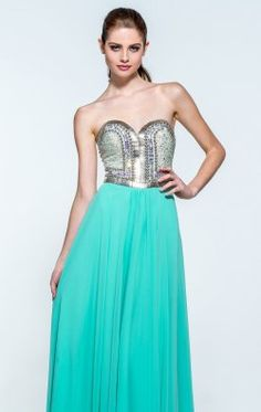 Beaded Strapless Gown by Terani Couture Prom 151P0466